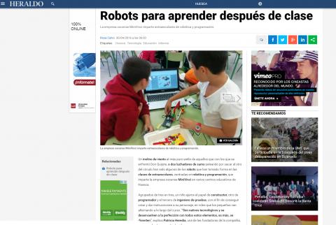 Robots para aprender después de clase